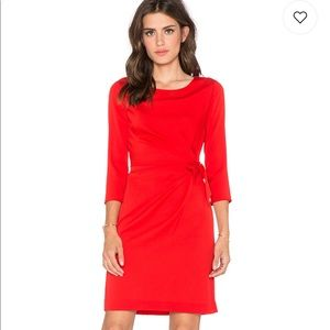 Diane von Furstenberg DVF Red Silk Zoe Dress